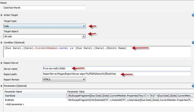 SSAS Reporting Action with Date Parameters   MikeDavisSQL