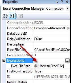 Image result for ssis excel connection manager file name variable